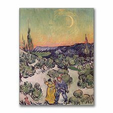 "<strong>Trademark Fine Art</strong> ""Moonlit Landscape,1889"" Canvas Art"