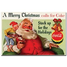 "<strong>Trademark Fine Art</strong> Coca-Cola ""Merry Christmas with Elves"" Canvas Art"