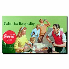 "<strong>Trademark Fine Art</strong> Coca-Cola ""Coke for Hospitality"" Canvas Art"