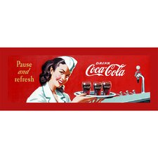 "Coca-Cola ""Waitress"" Stretched Canvas Art"