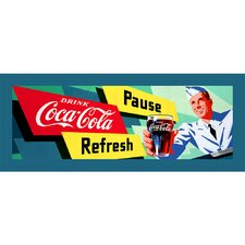 "Coca-Cola ""Waiter"" Stretched Canvas Art"