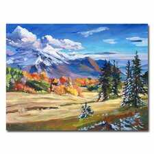 <strong>Trademark Fine Art</strong> 'Autumn in the Foothills' Canvas