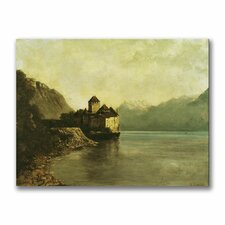 """""""Chateau de Chillon, 1874"""" Painting Print on Canvas by Gustave Courbet"""