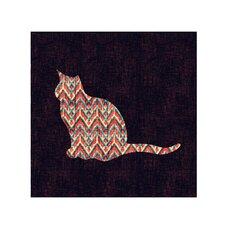 """Ikat Cat"" by Budi Satria Kwan Painting Print on Canvas"