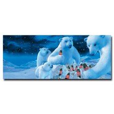 "<strong>Trademark Fine Art</strong> Coca-Cola ""Polar Bears with Nest of Coke Bottles"" Canvas Art"