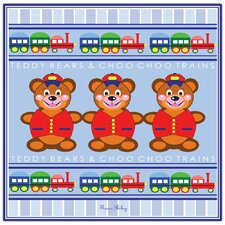 'Teddy Bears and Choo Choo Trains' Canvas Art