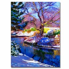 <strong>Trademark Fine Art</strong> 'Snowy Park' Canvas Art