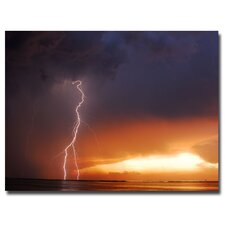<strong>Trademark Fine Art</strong> 'Lightning Sunset IV' Canvas Art
