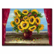 <strong>Trademark Fine Art</strong> 'Sunflowers by the Window' Canvas Art
