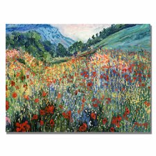 'Field of Wild Floweres' by Manor Shadian Painting Print on Canvas