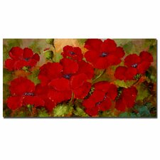 'Poppies' by Rio Painting Print on Canvas