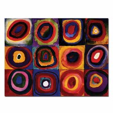 """""""Karbstudie Quadrate"""" by Wassily Kandinsky Painting Print on Canvas"""