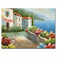 <strong>Trademark Fine Art</strong> 'Mideterreanean View' Canvas Art