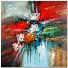'Cube Abstract IV' by Rio Graphic Art on Canvas