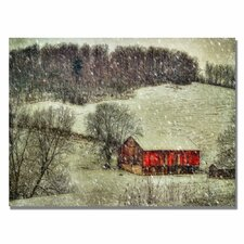 <strong>Trademark Fine Art</strong> 'Snowy Cabin' Canvas Art