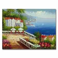 'Mediterranean View' Canvas Art