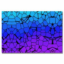 'Crystals of Blue and Purple' Painting Print on Canvas