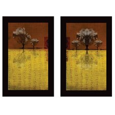 'Trees III and IV' by Miguel Paredes 2 Piece Graphic Art on Canvas Set (Set of 2)