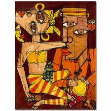 <strong>Trademark Fine Art</strong> 'La Luna esta de Fiesta' Canvas Art