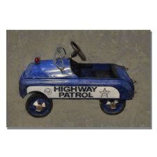 <strong>Trademark Fine Art</strong> 'Highway Patrol Pedal Car' Canvas Art