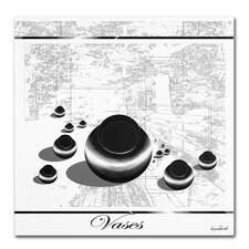 <strong>Trademark Fine Art</strong> 'Black Vases' Canvas Art