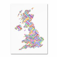 'United Kingdom IV' by Michael Tompsett Graphic Art on Canvas