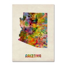 <strong>Trademark Fine Art</strong> 'Arizona Map' Canvas Art