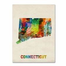 <strong>Trademark Fine Art</strong> 'Connecticut Map' Canvas Art