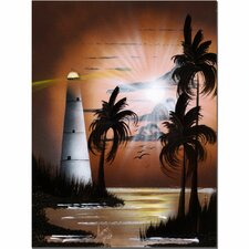 <strong>Trademark Fine Art</strong> 'Lighthouse at Sunrise' Canvas Art