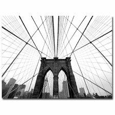 'NYC Brooklyn Bridge' by Nina Papiorek Photographic Print on Canvas
