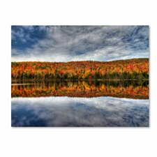 <strong>Trademark Fine Art</strong> 'Autumn Reflection' Canvas Art