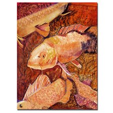 <strong>Trademark Fine Art</strong> 'Golden Koi' Canvas Art