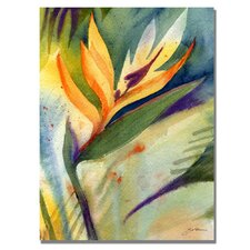 'Bird of Paradise' by Sheila Golden Painting Print on Canvas
