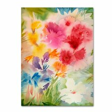 'Bright Garden' by Sheila Golden Painting Print on Canvas