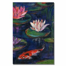 <strong>Trademark Fine Art</strong> 'The Lily Pond' Canvas Art