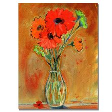 <strong>Trademark Fine Art</strong> 'Daisy Vase' Canvas Art