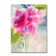 <strong>Trademark Fine Art</strong> 'Cerise Garden' Canvas Art