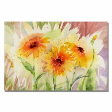 <strong>Trademark Fine Art</strong> 'Medow Daisey Trio' Canvas Art