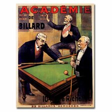<strong>Trademark Fine Art</strong> 'Academie de Billiard' Canvas Art