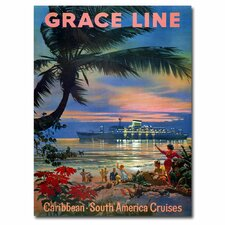 <strong>Trademark Fine Art</strong> 'Grace Line Cruises' Canvas Art