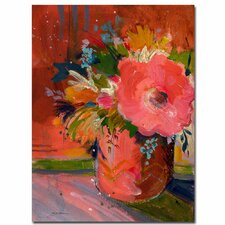 <strong>Trademark Fine Art</strong> 'Coral Glitter' Canvas Art
