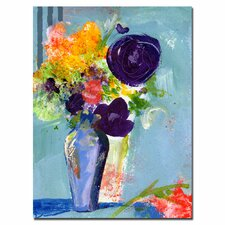 <strong>Trademark Fine Art</strong> 'Purple Flowers' Canvas Art
