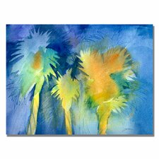 <strong>Trademark Fine Art</strong> 'Night Palm' Canvas Art