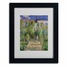 "<strong>Trademark Fine Art</strong> ""The Artist's Garden at Vetheuil"" Framed Art"