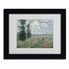"""""""The Poppy Field"""" by Claude Monet Framed Painting Print"""
