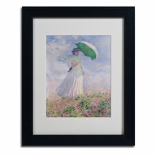 "<strong>Trademark Fine Art</strong> ""Woman with a Parasol"" Framed Art"