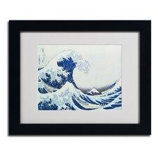 """The Great Kanagawa Wave"" by Katsushika Hokusai Framed Graphic Art"
