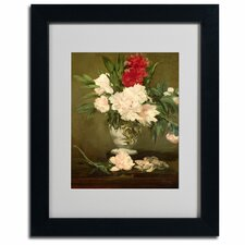 "<strong>Trademark Fine Art</strong> ""Vase of Peonies, 1864"" Framed Art"
