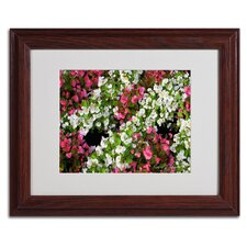 "<strong>Trademark Fine Art</strong> ""Begonia Garden"" Framed Art"