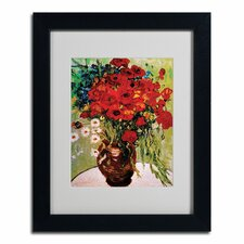 """Daisies and Poppies"" by Vincent van Gogh Framed Painting Print"